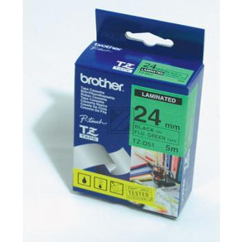 Brother Schriftbandkassette schwarz/signal grün (TZE-D51)